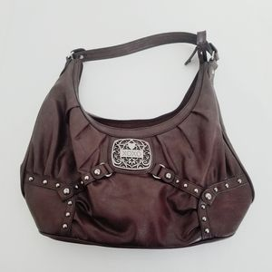 XOXO brown leather purse like new